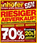 Möbel Inhofer Möbel Inhofer - Riesiger Abverkauf bis zu 70%* Rabatt! - bis 10.07.2021