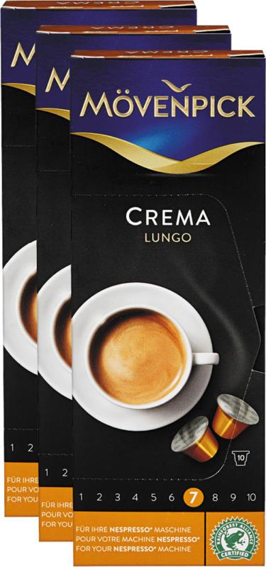 Mövenpick Kaffeekapseln, Crema Lungo, 3 x 10 Kapseln