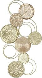 Wanddeko Blush aus Metall in Goldfarben/Rosa