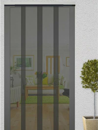 Insektenschutz-Lamellenvorhang Tür 120 cm x 250 cm Anthrazit