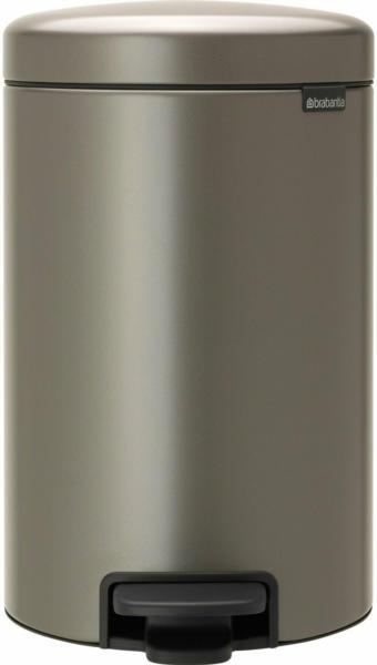 Brabantia Treteimer NewIcon 12 l Platinum mit geräuschlosem Deckelverschluss