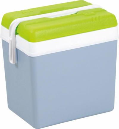 Kühlbox Perlgrau und Grün 24 l