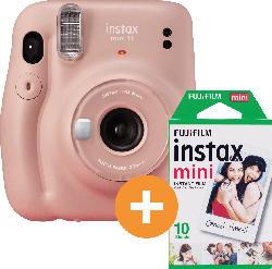Fuji instax Mini 11 Kamera BLUSH-PINK + 10er instax Mini Film