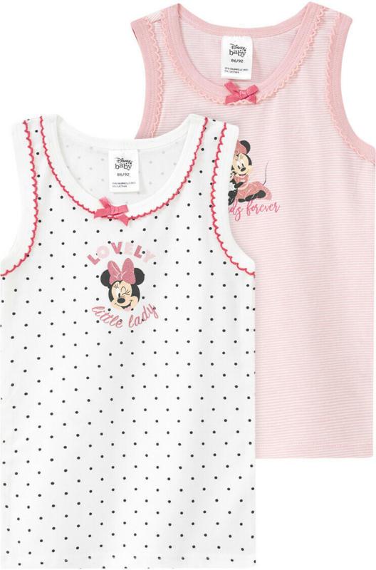 2 Minnie Maus Unterhemden mit Zierschleife