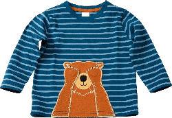 PUSBLU Kinder Langarmshirt, Gr. 92, in Baumwolle, blau