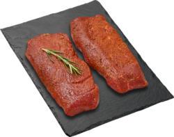 Scamone di manzo Black Angus BBQ, aromatizzata, Uruguay, 2 x ca. 150 g, per 100 g