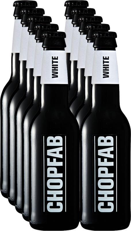 Chopfab Bier White, 10 x 33 cl