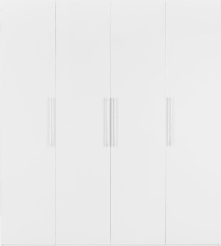 Drehtürenschrank in Weiß