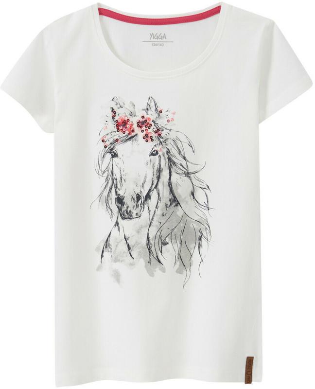 Mädchen T-Shirt mit Pferde-Motiv