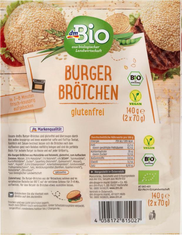 dmBio Burger-Brötchen glutenfrei