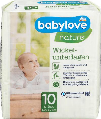 babylove Wickelunterlagen nature