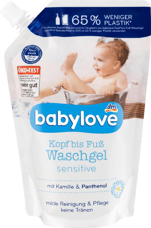 babylove Kopf bis Fuß Waschgel Nachfüllbeutel