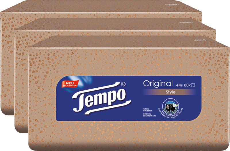 Boîte de mouchoirs Tempo, 3 x 80 pièces