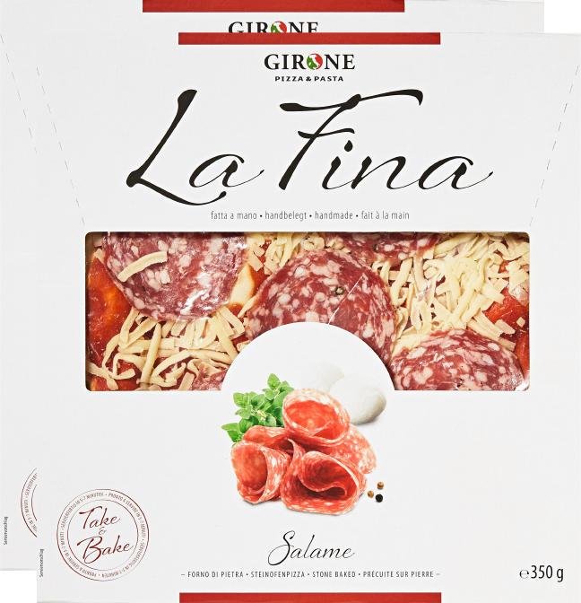 Girone Pizza La Fina, Salami, 2 x 350 g