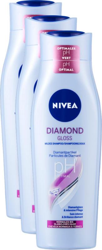 Nivea Diamond Gloss Shampoo delicato, 3 x 250 ml