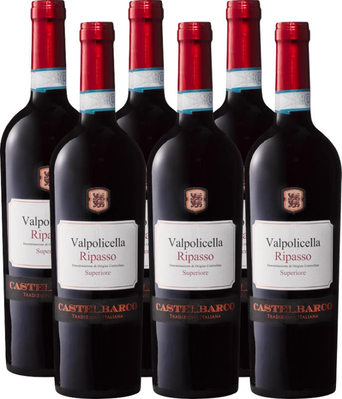 Castelbarco Ripasso della Valpolicella DOC Superiore, 2017/2018, Veneto, Italia, 6 x 75 cl