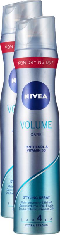 Nivea Styling Spray Volume Care , 2 x 250 ml