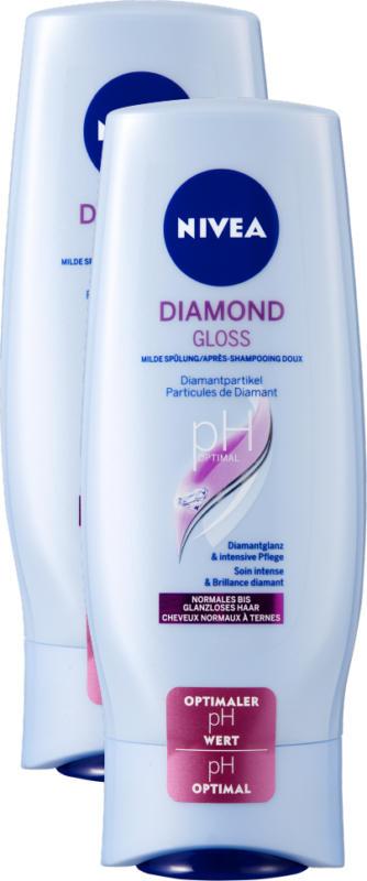 Nivea Pflegespülung Diamond Gloss Care, 2 x 200 ml