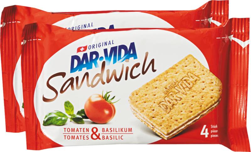 Sandwich Tomates & Basilic DAR-VIDA Hug, 2 x 195 g