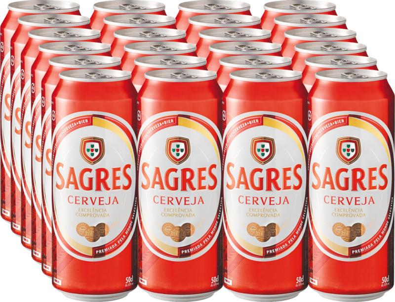 Sagres Bier, 24 x 50 cl
