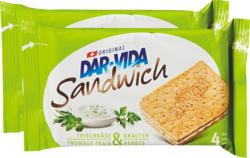 Sandwich Fromage frais & Herbes DAR-VIDA Hug, 2 x 195 g