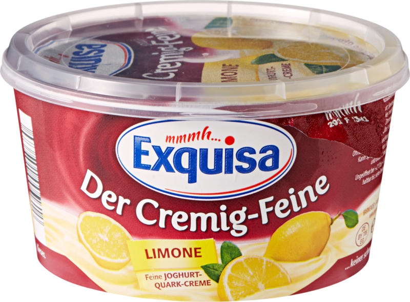 Quark alla frutta Exquisa, Limone, 470 g