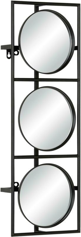 Wandspiegel aus Metall in Schwarz
