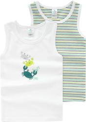 2 Baby Unterhemden in verschiedenen Dessins (Nur online)