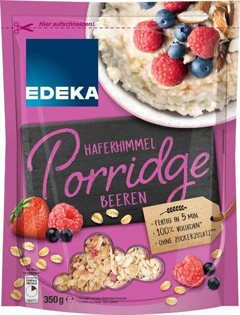 EDEKA Haferhimmel Porridge Beeren oder Mehrkorn