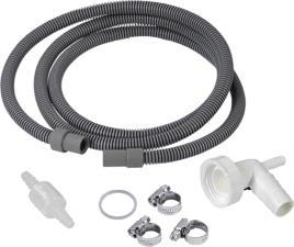 XAVAX 111894 Scolate set tubo (Grigio/Bianco)
