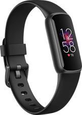 FITBIT Luxe - Bracelet d'activité (S: 140-180 mm / L: 180-220 mm, Silicone, Noir/Acier inoxydable graphite)