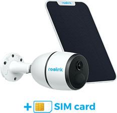 REOLINK Go 4G-LTE - Telecamera di sicurezza + scheda SIM Sunrise + pannello solare (Full-HD, 1080 x 1920 pixel)