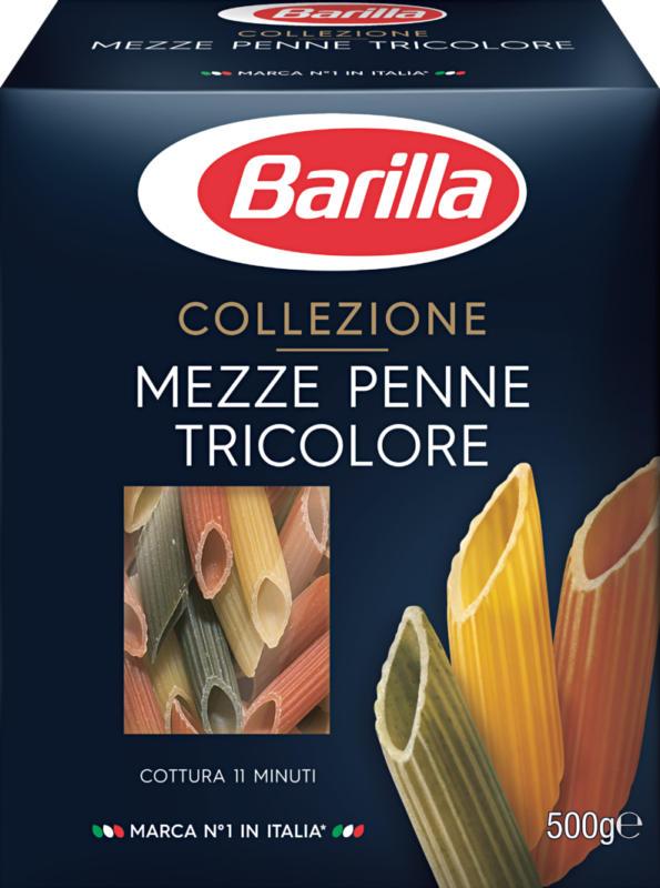 Mezze Penne Tricolore Collezione Barilla  , 500 g