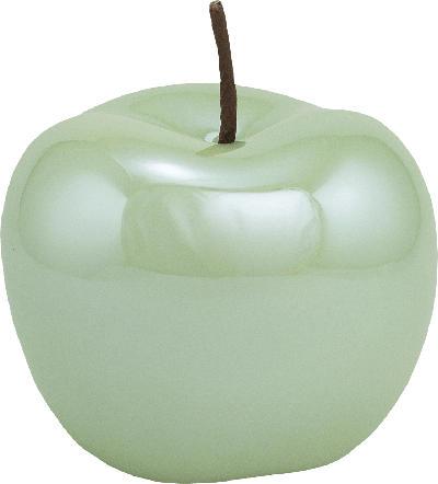 Dekorieren & Einrichten Keramikapfel glänzend 12cm hellgrün