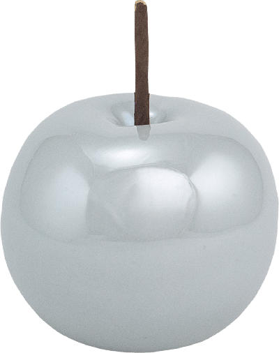 Dekorieren & Einrichten Keramikapfel glänzend 8cm grau