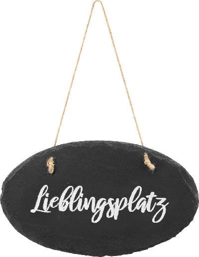Dekorieren & Einrichten Behang Schiefertafel 'Lieblingsplatz'