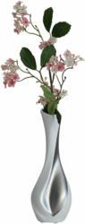 Vase Gardo Tropfenförmig Silber Weiss H: 26 cm