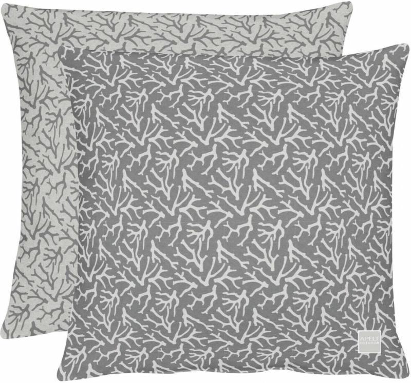 Kissen Jacquard Outdoor Schwarz-Weiss 45x45 cm