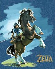 PYRAMID The Legend Of Zelda: Breath of The Wild - Link & Epona - 3D-Lentikular-Poster (Mehrfarbig)