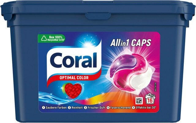 Coral Waschmittel All in 1 Caps Optimal Color