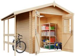 Weka Gartenhaus 'Louis' Fichtenholz naturbelassen 200 x 200 cm