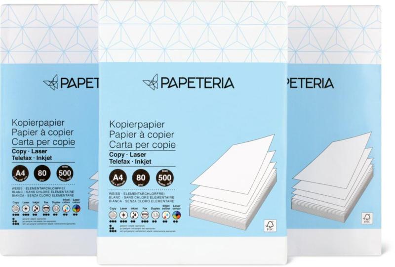 Papier à copier A4 Papeteria, FSC