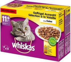 Whiskas Frischebeutel 12-Pack Geflügel Auswahl in Gelee 11+