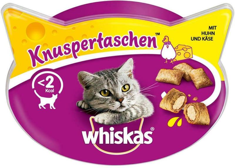 Whiskas Snacks Knuspertaschen mit Huhn & Käse