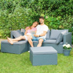 Roller Gardiola Lounge Sitzgruppe - grau - inklusive Kissen