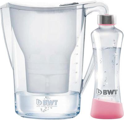 BWT Best Water Technology Tischwasserfilter Penguin 2,7l + 1 Kartusche + Glasfl. 500ml