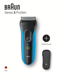 Braun Personal Care Braun Series 3 ProSkin - 3040s blau + Reiseetui + Gel