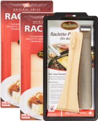 Fromage à raclette suisse avec poêlons, 2 x 300 g