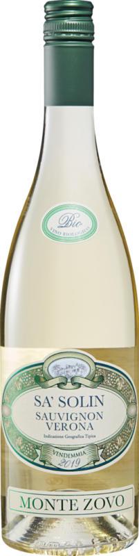 Monte Zovo Sa'Solin Sauvignon Blanc bio Verona IGT, 2020, Veneto, Italia, 75 cl