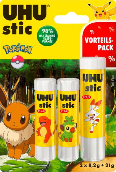 UHU stic 2x8,2g +   21 g Pokemon